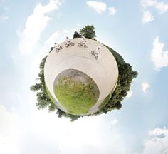 Little planet sequence photo