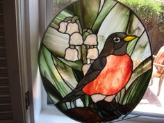 Red Robin Stained Glass