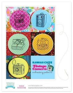 vintage camera embroidery patterns