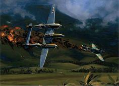 Работы художника Jackа Fellowsа  P-38