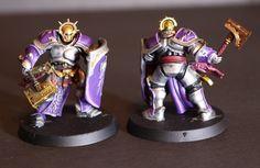 Warhammer: Age of Sigmar Stormcast Eternals Liberators Silver and purple paint scheme