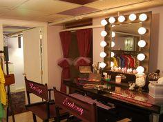 Bedroom mirror with lights