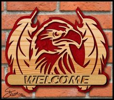 Eagle Welcome Sign Scroll Saw Pattern. - Eagle Welcome Sign Scroll Saw Pattern. Scroll Saw Patterns Free, Scroll Pattern, Cross Patterns, Pattern Art, Free Pattern, Wood Carving Patterns, Wood Patterns, Carving Wood, Woodworking Patterns