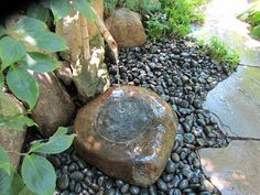 Stone water feature/stein med vann