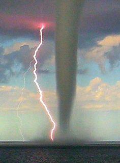 Waterspout lightning by MaldenDj on Flickr.