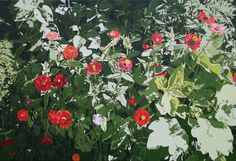 """Oleg Maslov, From the series """"Coneflowers and zinnias"""" № 2, 2015, 136x200 cm, canvas/oil"""