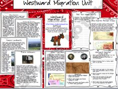 Westward Migration Unit.. Lewis and Clark and Oregon Trail