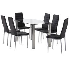 Zoe 7 Piece Dining Set With Zara Chairs 269