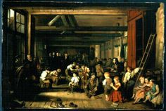 """""""The First Ragged School, Westminster"""" by Alexander Blaikley (1851) at the Birmingham Museums, Birmingham - From the curators' comments: """"This first free school for destitute children was opened in Westminster in 1839. These schools received their name when the first 'Ragged School Union' was formed in 1844."""""""