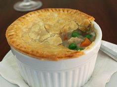 Wow--canned tuna, frozen mixed veg.,  canned mushroom soup, frozen pie crusts--so easy!!! It tastes good and--bonus--your kids will eat it! (You can use deli chicken in place of tuna and sub chicken soup for mushroom--it's all good!!!)