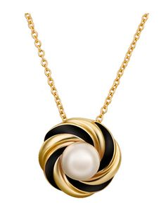 Gold Plated Venetian Pearl Pendant Women Necklace & Jewelry - at Jollychic