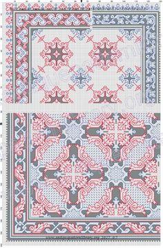 Gallery.ru / Фото #10 - Kreuzstich-Muster Fur Leinenstickerei - gabbach Embroidery Patterns Free, Lace Patterns, Knitting Patterns Free, Free Knitting, Free Crochet, Embroidery Designs, Crochet Patterns, Cross Stitch Borders, Cross Stitch Patterns