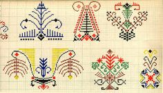 source for east-european folklore Folk Embroidery, Cross Stitch Embroidery, Embroidery Patterns, Cross Stitch Patterns, Intarsia Knitting, Knitting Charts, Cross Stitch Samplers, Cross Stitching, Folklore