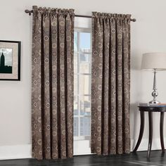 Sun Zero Galaxy Room Darkening Curtain, Beig/Green (Beig/Khaki)