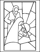 nativity....this site also has other printable Christmas pages