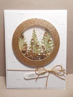Festive Tree Shaker Card