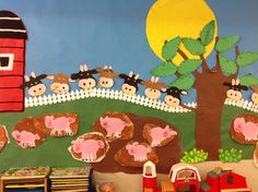 Cows and pigs bulletin board...farm bulletin board...Open House bulletin board