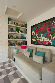 """Love this extra large piece of art & the colors so """"now""""  great space"""