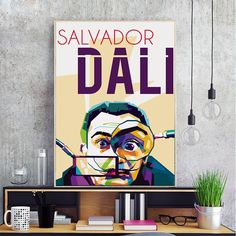 Spanish Surrealist Painter and Printmaker Salvador Dali Canvas Painting Art Print Poster Picture Wall Home Bedroom Decoration Salvador Dali, Crazy Man, Poster Pictures, Picture Wall, Decoration, Printmaking, Spanish, Bedroom Decor, Gaudi