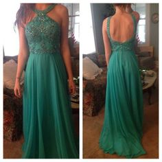New arrival chiffon prom dress,beading evening formal dress,backless evening…