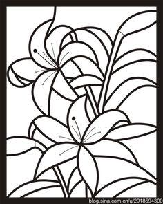 【影子手绘】玻璃彩绘15 百合花&圆环壁饰 图纸