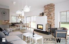 Dom z widokiem na gory salon - Salon - Styl Skandynawski - Wytwórnia Pracownia Projektowa