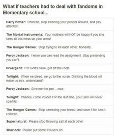 How teachers had to deal with fandoms in elementary school