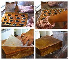 Indonesian Medan Food: Lapis Legit Prune / Kue Spekkoek (Decadent Layered Cake with Prune) Marmer Cake, Prune Cake, Pandan Chiffon Cake, Sponge Cake Roll, Lapis Legit, Cake Roll Recipes, Resep Cake, Asian Cake, Sweet Soup