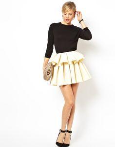 super cute peplum skirt!