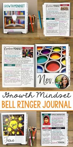 Bell ringer journal for growth mindset   Growth VS fixed mindset   Middle and high school   Grades 6-12   Career readiness   AVID   Life and goal planning