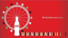 """En Grande-Bretagne, Coca-Cola dévoile sa nouvelle campagne """"Choose Happiness"""". #pub"""