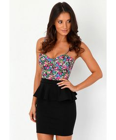 Sasy Peplum Mini Skirt - skirts - missguided