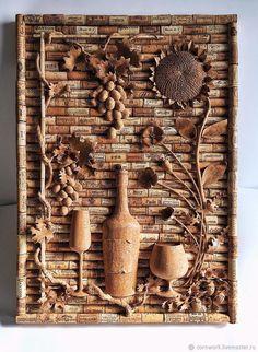 Cork Crafts, Diy Crafts, Cork Art, Cork Ideas, Champagne, Arts And Crafts, Texture, Wine Corks, Collages