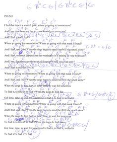 Plush (Stone Temple Pilots) Guitar Chord Chart