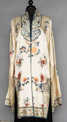Embroidered Satin Coat, China, 1920-1940s, Augusta Auctions, November 11, 2015 NYC