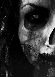 Dark art for our inner demons: Photo Creepy, Scary, Zombie Vampire, Dark Drawings, Bizarre Art, Inner Demons, Hades And Persephone, Dark Places, Beautiful Butterflies