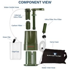Survivor Filter PRO – Virus and Heavy Metal Tested 0.01 Micron Water Filter. 3 Filter Stages  2 Cleanable 100000L Membranes and a Carbon Filter. Attachable Cup Hoses Clip and Carry Case Included ** Check out this great product. (This is an affiliate link and I receive a commission for the sales) #campinggear