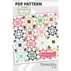 Fireworks Downloadable PDF Quilt Pattern<BR>Thimble Blossoms