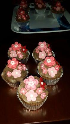 Cupcakes flowers chocomint