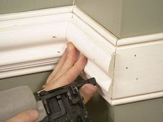 The living room is another great space to install a chair rial molding as these 10 chair rail ideas make clear...More inspiration from ..