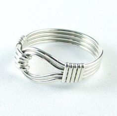 Sterling Silver Ring Double Wire Loop Custom by WireYourWorld, $29.00