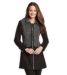 Product: Guess Single-Breasted Wool Blend Colorblocked Walker Coat