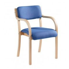 Prague Wood Frame Stackable Chair with Arms | UK WorkStore. Stack chair with wooden frame with arms available in Blue or Charcoal. 820mm(H) x 530mm(W) x 560mm(D)
