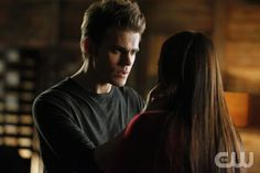 """The Murder of One""-LtoR: Paul Wesley as Stefan and Nina Dobrev as Elena on THE VAMPIRE DIARIES on The CW. Photo: Quantrell D. Colbert/The CW ©2012 THE CW NETWORK. ALL RIGHT RESERVED."