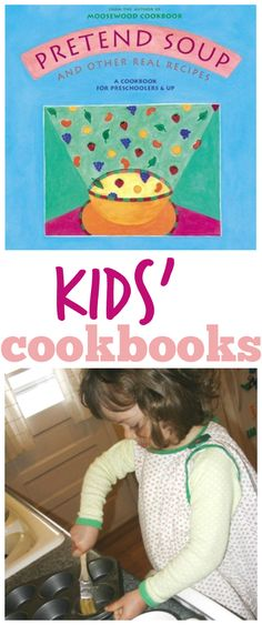 These kids cookbooks by Mollie Katzen are great! The visual layout empowers pre-readers and beginning readers to help (or take charge) in the kitchen. Love these!
