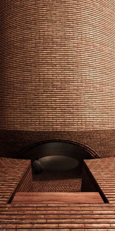 Chapel Proposal in Senegal Uses Local Materials to Unite the Community,Courtesy of Cassidy+Wilson Church Architecture, Architecture Details, Modern Church, Unusual Buildings, Tadelakt, Concrete Structure, Brick Facade, Brick Design, Brickwork