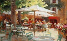 Mockingbird Gallery - Cafe in Gordes - Richard Boyer