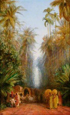 Road near Galle, Ceylon - Edward Lear