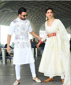Deepika Padukone with Ranveer Singh 👰🤵❤😍😘 Wedding Dresses Men Indian, Party Wear Indian Dresses, Wedding Dress Men, Wedding Suits, Indian Outfits, Wedding Wear, Mens Indian Wear, Indian Groom Wear, Indian Men Fashion