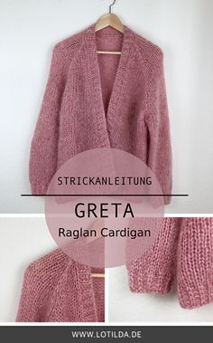 GRETA Oversize Raglan Cardigan mit Blende 2019 LOTILDA Anleitung Raglan Strickjacke aus Mohair The post GRETA Oversize Raglan Cardigan mit Blende 2019 appeared first on Knit Diy. Knitting Blogs, Knitting Patterns Free, Knit Patterns, Free Knitting, Baby Knitting, Sewing Patterns, Knitting Sweaters, Afghan Patterns, Knitting Machine